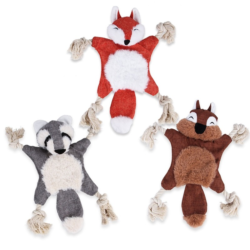 Pet Toys New Plush Vocal Dog Supplies Wear-resistant Bite-resistant Simulation Fox Dog Puppy Chew Toys Dog Toys Squeaking