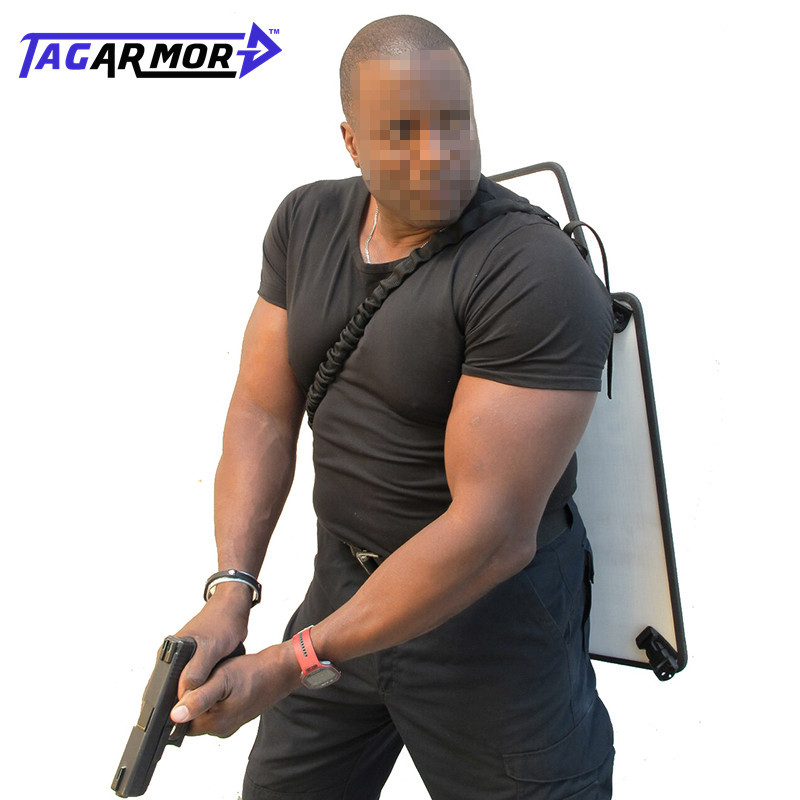Tagarmor Lightweight Portable NIJ IIIA Level PE Bulletproof Shield Armor Shield Military Police Protection Ballistic Shield