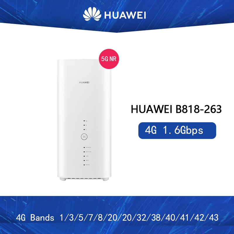 Unlocked New Huawei B818 B818-263 4G Router 3 Prime LTE CAT19 Router 4G B1/3/5/7/8/20/26/28/32/38/40/41/42/43 Wirless CPE Router