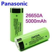 Panasonic 100% Nuova Batteria Originale Per Panasonic 26650A 3.7V 5000mAh Ad Alta Capacità di 26650 Batteria Ricaricabile Li-Ion