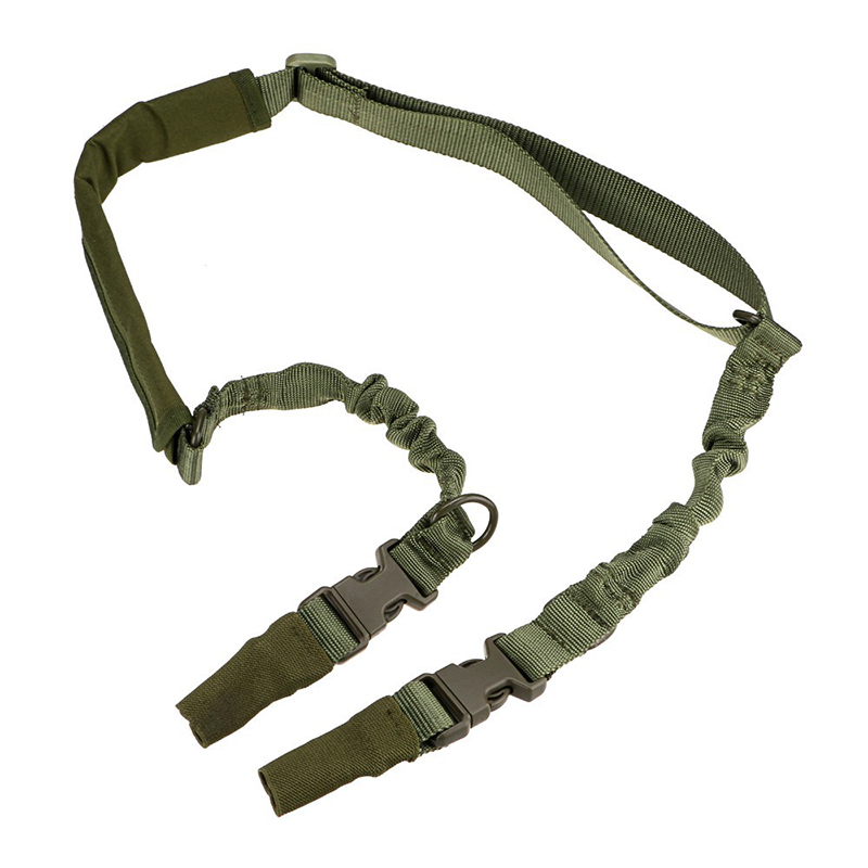 Tactical Adjustable Two Point Multi-mission Gun Sling Rifle Sling Quick Detach QD Bungee Nylon Strap For Hunting Accessories