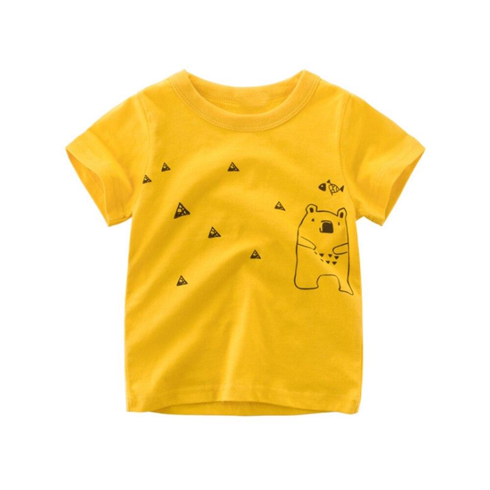 Loozykit/Летняя детская футболка для мальчиков футболки с короткими рукавами и принтом короны для маленьких девочек хлопковая детская футболка футболки с круглым вырезом, одежда для мальчиков - Цвет: Style 7