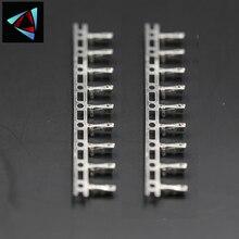 100 PCS 2.54mm Female Dupont Jumper Wire Terminal Connector Pins Crimp Copper