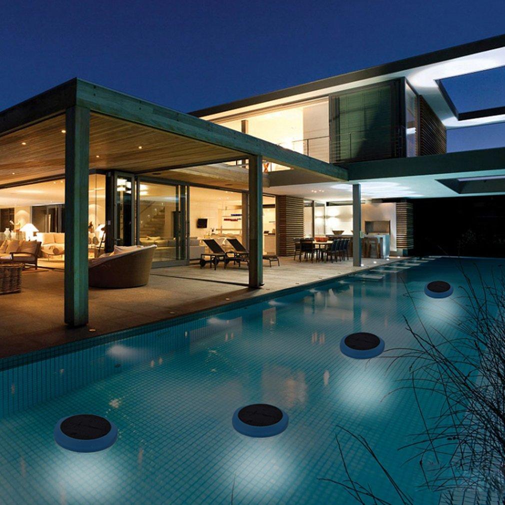 พลังงานแสงอาทิตย์ลอยสระว่ายน้ำสวนพลังงานแสงอาทิตย์ไฟ LED ที่มีสีสันไฟตกแต่งตกแต่งสระว่ายน...
