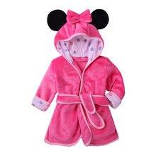 Crianças menino menina robe 2019 roupão minnie mickey tiger macio flanela robe pijamas bebê crianças roupas quentes 2-6y
