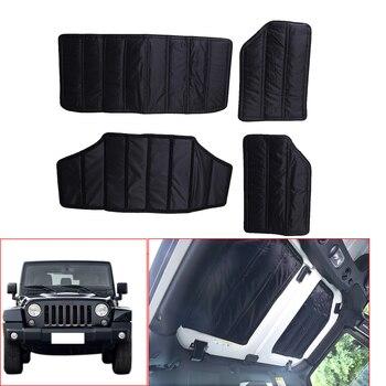 4PCS /Set Auto Hardtop Sound Deadener Headliner Insulation For Jeep JK Wrangler 4-Door 2011 - 2017 Car Interior Accessories