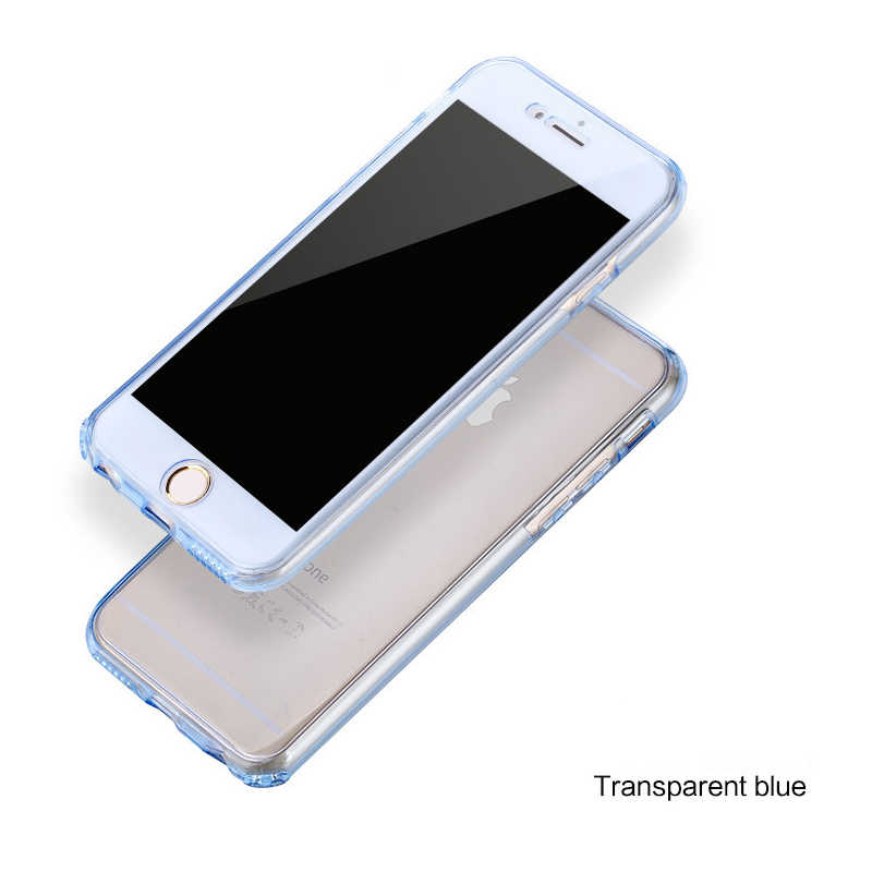 Funda transparente 360 para iPhone 11 Pro XS Max X XR 5 6 S 5S 6 S 7 8 Plus 6Plus 7Plus 8 Plus funda de silicona suave para teléfono móvil