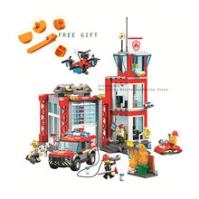 2019 new 11215 533pcs legoinglys city fire station off-road vehicle scouting drone building block 60215 Bricks Toy(China)