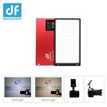 DF YY120 LED 10W Bi color Dimmable ultra Thin Panel light for vlogging video DSLR YouTube photo studio