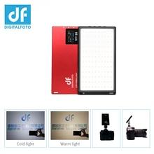 DF YY120 LED 10W 바이 컬러 디 밍이 가능한 울트라 얇은 패널 라이트 블로깅 비디오 DSLR YouTube photo studio