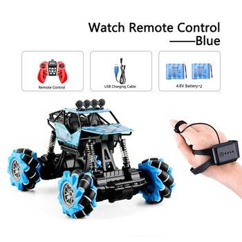 1:16 Rc Autos 4wd Uhr Control Geste Induktion Fernbedienung Auto Maschine Fur Radio-gesteuert Spielzeug Autos Stunt-Auto - RcCar001-Blue-2B