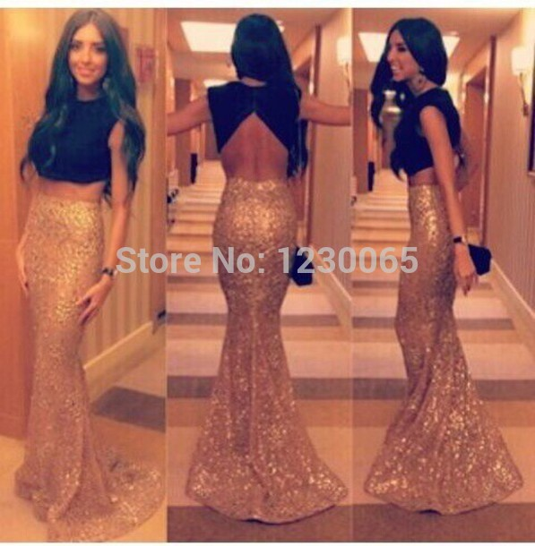 Robe De Soiree 2018 New Two Piece Prom Sexy Backless Mermaid Long Evening Gown Vestido De Festa Mother Of The Bride Dresses