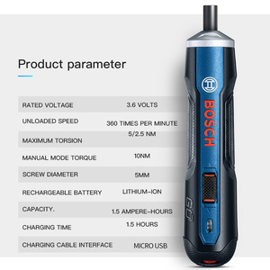 Image 2 - Bosch Go 6 Modes Adjustable Torques Screwdriver Tool Kits ,Rechargeable 3.6V Smart Cordless Screwdriver Mini Power Tool