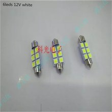 5050 12V LED reading lamp 6led 8leds white car light  double point super bright lighting beads 5pcs/lot