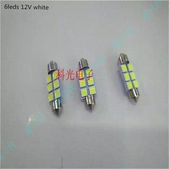 5050 12V LED reading lamp 6led 8leds white car light  double point super bright lighting beads 5pcs/lot