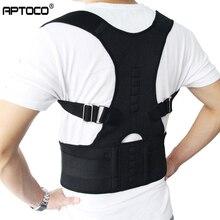 Aptoco, corrector de postura de terapia magnética, cinturón de respaldo de hombros para tirantes y soporte de cinturón, postura de hombro, Stock de ee.uu.