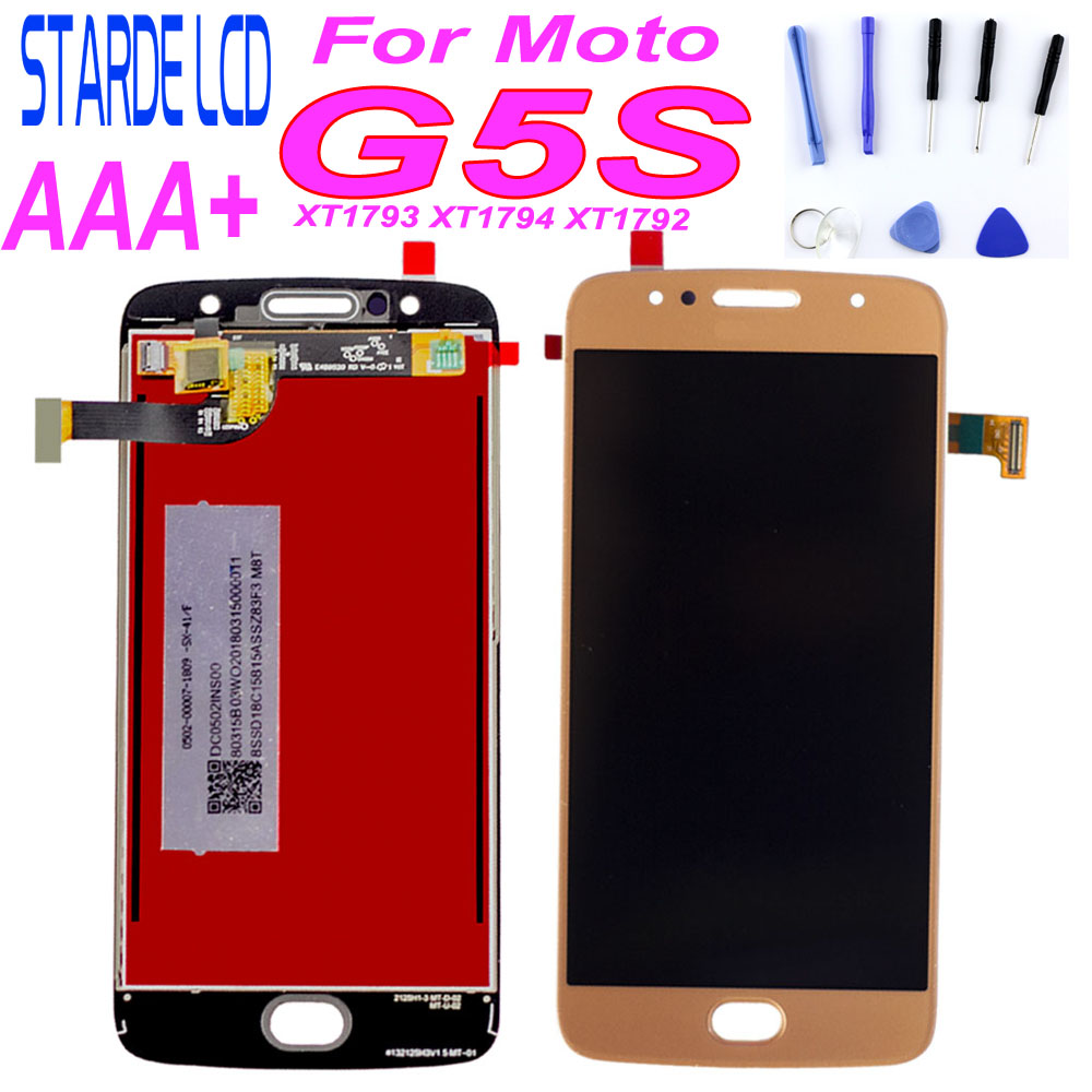Original Display For Moto G5S <font><b>XT1792</b></font> <font><b>LCD</b></font> Touch Screen XT1794 Display for Motorola Moto G5S <font><b>LCD</b></font> Replacement XT1793 with Tools image