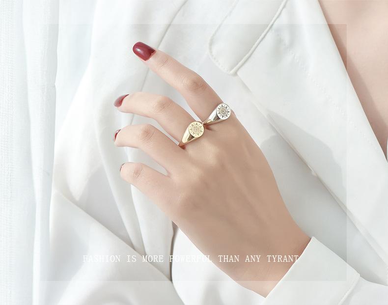 Leouerry 925 пробы серебряные креативные кольца с гравировкой