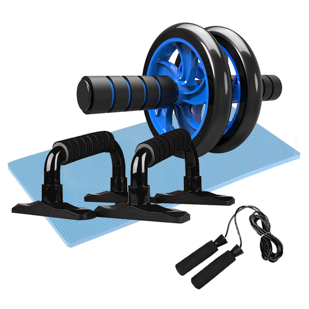 H2fde5c02e1c8474aa838b6ef42f6069aU - 5-in-1 AB Roller Kit Abdominal Press Wheel Pro with Push-UP Bar Jump Rope Knee Pad Gym Home Exercise  Fitness Equipment