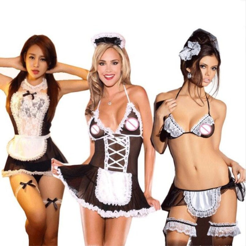Sexy Lingerie Hot Women Role Play Baby Doll Erotic Lingerie Sex Dress Cosplay Maid Uniform Sexy Underwear Lenceria Sex Clothes