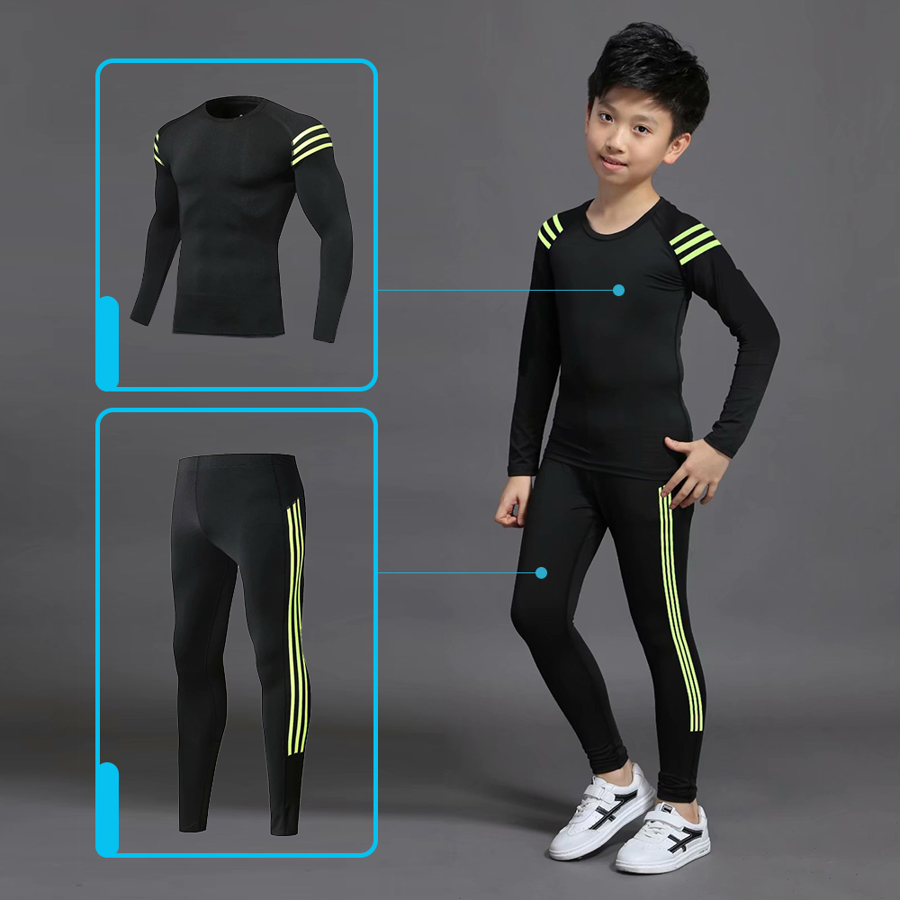 2019 Boys Winter Thermal Underwear Sets Children Anti-microbial Stretch Kids Thermo Underwear Boy Warm Clothing Long pants Johns