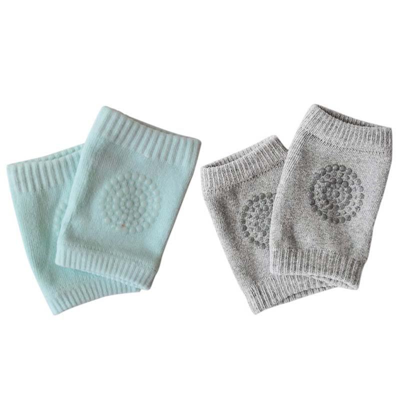 2 Pair Korean Version Of Infant Socks, Children'S Knee Pads, Leggings, Plastic Bottom, Thickening, Non-Slip Socks, Gray With Gre