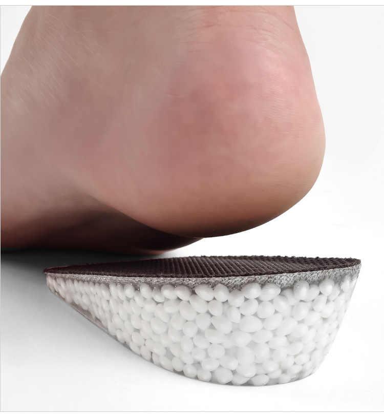 ETya 1 Paar Frauen Männer Komfortable Höhe Erhöhen Einlegesohle Unisex Schuhe Rosa Schwarz Farbe Speicher Schaum Halbe Pad Kissen Einfügen