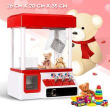 Carnival Style Vending Arcade Claw Candy Grabber Prize Machine Game Kids toy With Music And Lights Fashion Clip Doll Machine