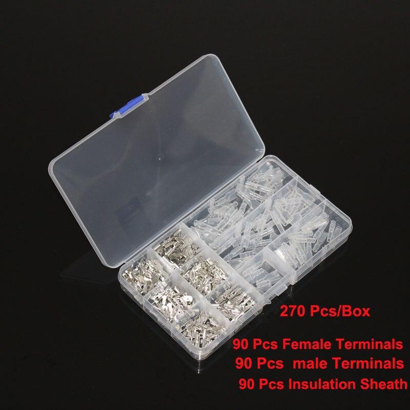 Соединители для проводов 2,8/4,8/6,3 мм, разные комплекты, обжимные гнездовые/мужские контакты