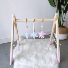 Funny Nordic Style Cartoon Solid Wood Felt  Hanging DecorationA Children Room Decoration Beads Accessories