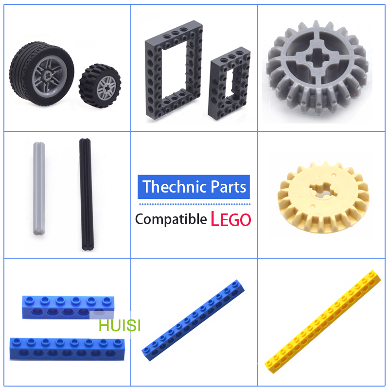 Compatible with LEGOO Thechnic Blocks Parts DIY Model Moc Plastic Building Bricks Wheels Gear Axle Learning Toys For kids 20pcs