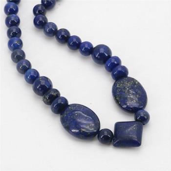 Nouveau classique gyptien Lapis Lazuli pierre cha ne perles collier accessoires pi ces femmes cadeau anniversaire