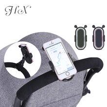 HX 360 grados giran los accesorios del cochecito de bebé soporte Universal ajustable montaje soporte para teléfono móvil negro blanco rosa
