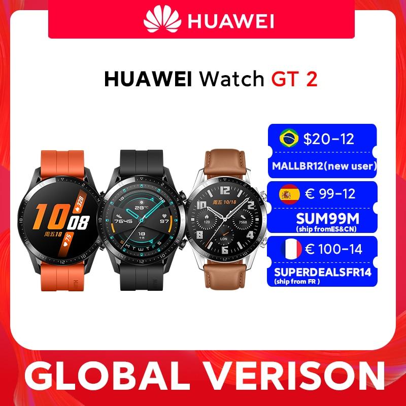 In stock Global Version HUAWEI Watch GT 2 GT2 Smart Watch Blood Oxygen SmartWatch 14 Days Phone Call Heart Rate Tracker|Smart Watches| - AliExpress