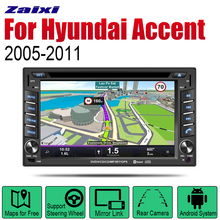 ZaiXi Android 2 Din Auto Radio DVD For Hyundai Accent 2005~2011 Car Multimedia Player GPS Navigation System Radio Stereo zaixi android 2 din auto radio dvd for hyundai sonata v6 gold 2001 2005 car multimedia player gps navigation system radio stereo