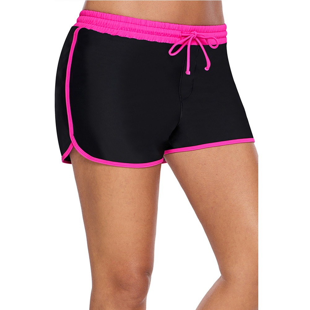 2019 Summer Sports Shorts Women's Elastic Band Swimming Trunks Women's Loose-Fit Breathable Boxer Boxers