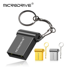 Super Mini Usb de Metal unidad Flash usb 64GB pendrive USB 2,0 flash Drive 32GB 16GB 8GB chiavetta pen drive 128GB flash drive(China)