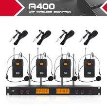 XTUGA A400 Materiale del Metallo 4 Canale UHF Sistema di Microfoni Senza Fili con 4 Da Tasca uso per la Fase Chiesa Utilizzare per festa di famiglia