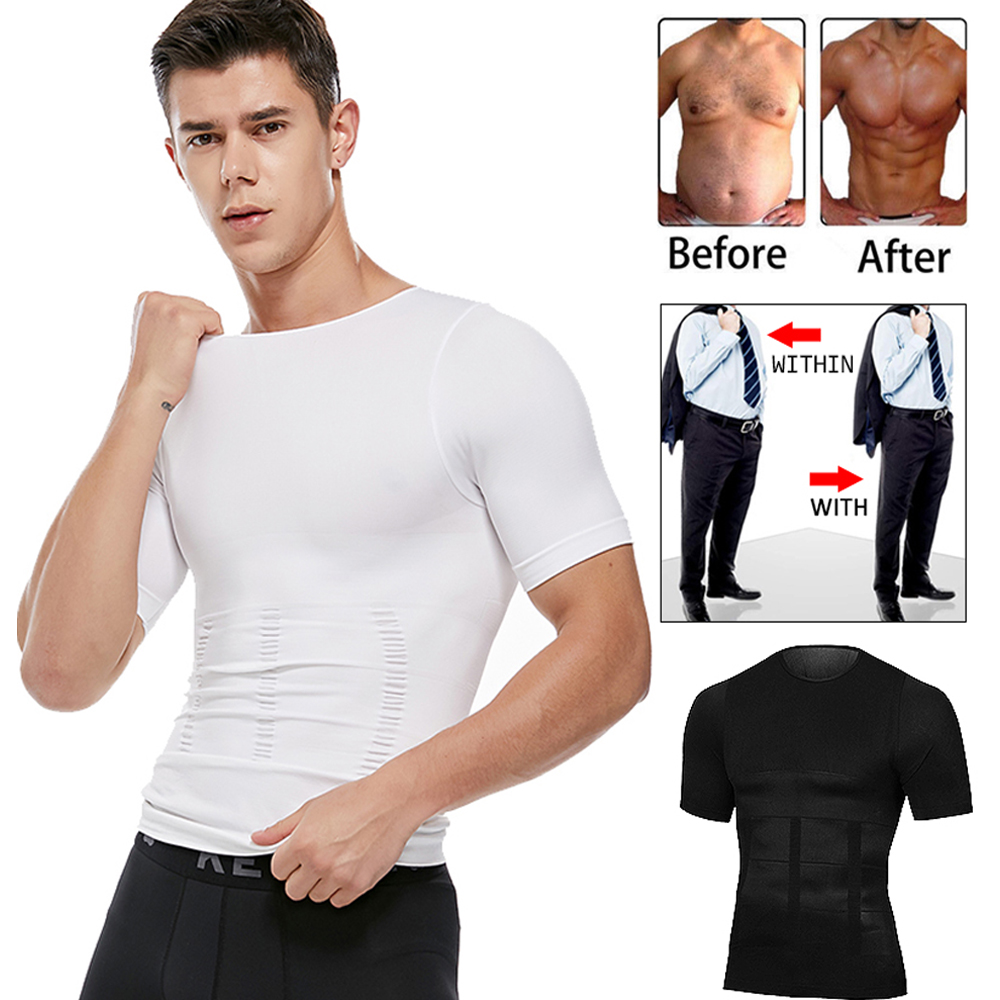 Body Shaper Shirt Corrective Posture Men Belly Control Modeling Corset Compression Vest Elastic Slim Underwear Shapewear M-XL
