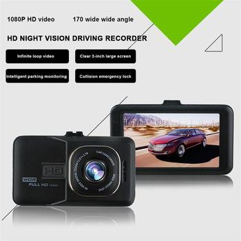 3 Inch Large Screen Driving Recorder Infrared Night Vision Large Wide Angle 1080P Dual Recording Driving Recorder image