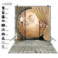 Laeacco Винтаж Orient китайский круглые дверные Арки Здания Луна фоновая фотография с изображением фон, фото-Декорации для фотостудии