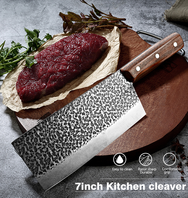 Hand-Made Stainless Steel Chopping Cleaver 6