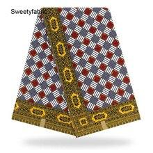 Ankara African Fabric 100% Cotton Plaid Print Wax Holland Tissu Tecidos Tissus High Quality