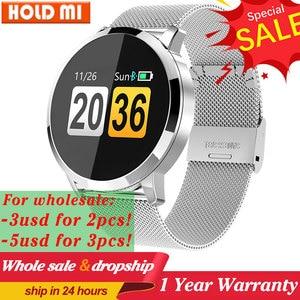 Image 1 - Q8/Q8 plus Smart Uhr OLED Farbe Bildschirm Smart Elektronik Smartwatch Mode Fitness Tracker uhr Herz Rate Bluetooth pk l8