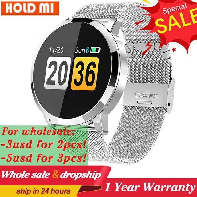 Q8/Q8 plus Smart Uhr OLED Farbe Bildschirm Smart Elektronik Smartwatch Mode Fitness Tracker uhr Herz Rate Bluetooth pk l8