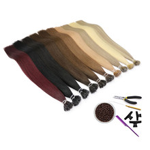 MRSHAIR Nano Ring Hair Extensions MachineMade Remy Micro Ring Human Hair Extensions with Tools DIY Pre Bonded 200pcs 12-16Inch(China)