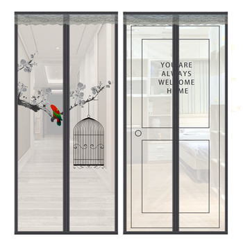 Velcro Magnetic Screen Door Net Anti Insect Mesh Fly Screen Mosquito Protection Net Magnet Curtains for Doors Windows Screen