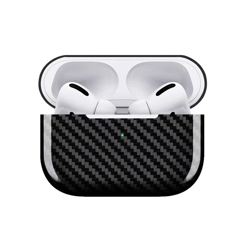 Luxury Real Carbon Fiber Case for AirPods Pro 2019 Wireless Headphone Ultra-thin Cover Shockproof for AirPods 3 Pro Accessories