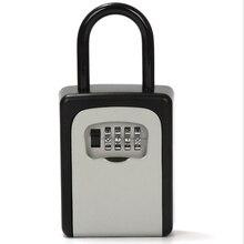 Caja de llaves con manija de puerta nueva, decoración de contraseña, bloqueo de código, entrega, almacenamiento de llaves