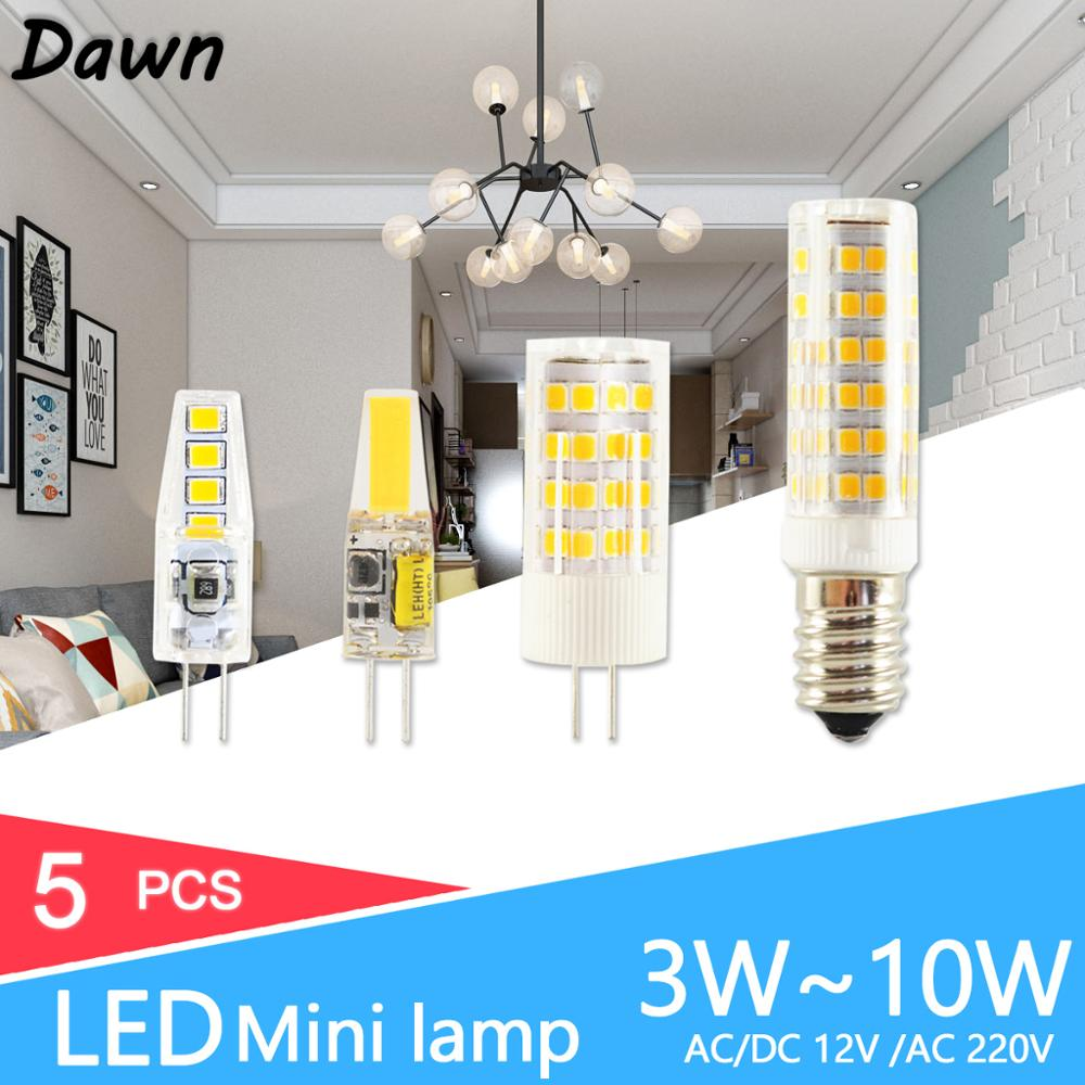 <font><b>LED</b></font> <font><b>G4</b></font> Light G9 COB <font><b>Led</b></font> Lamp No Flicker Dimmable Ceramic E14 Bulb SMD2835 AC220V DC12V 3W 6W 9W <font><b>10W</b></font> 12W Replace Halogen <font><b>G4</b></font> Lamp image
